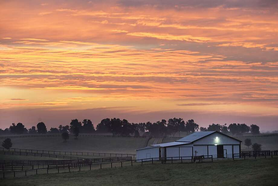 The sun rises early Tuesday, July 30, 2013, over a farm in Danville, Ky. (AP Photo/The Advocate-Messenger, Clay Jackson) Photo: Clay Jackson, Associated Press