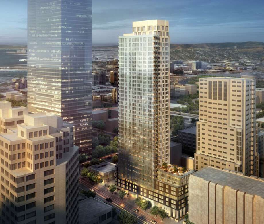 A 41-story residential tower is planned for 340 Fremont St., one of a half-dozen construction projects under way or in the works for the Rincon Hill area. Photo: Hand Out, Courtesy Handel Architects