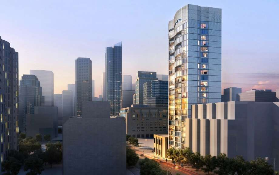 A 25-story residential tower with 118 units is planned for 325 Fremont St., one of at least a half-dozen construction projects under way or in the works for the Rincon Hill area. Photo: Handel Architects