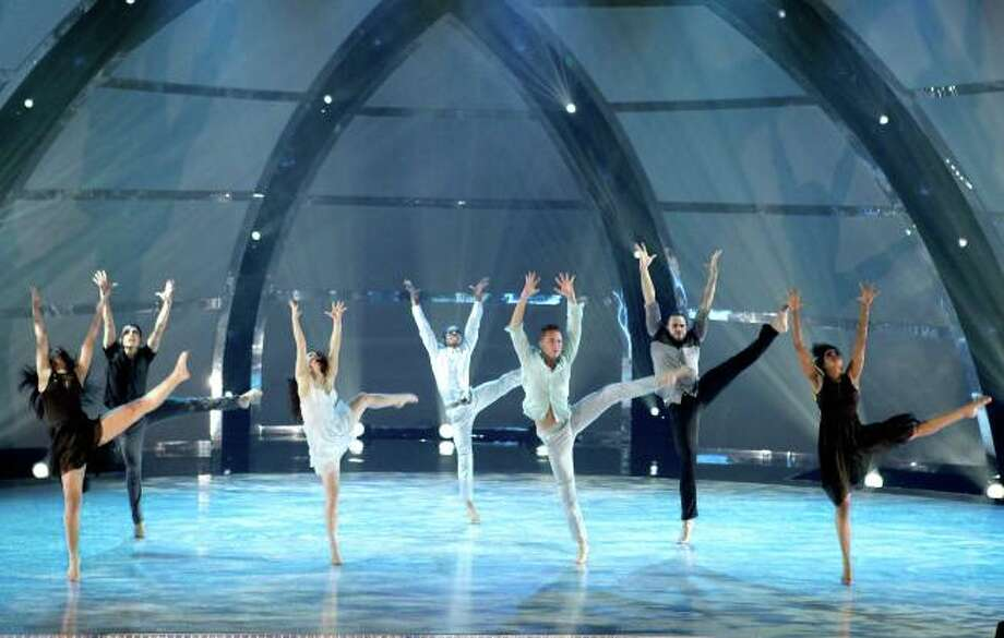 """SO YOU THINK YOU CAN DANCE: L-R: Top 7 contestants perform a group routine to """"Tears Of An Angel"""" choreographed by Bonnie Story on SO YOU THINK YOU CAN DANCE airing Tuesday, July 30 (8:00-10:00 PM ET/PT) on FOX. ©2013 FOX Broadcasting Co. Cr: Adam Rose"""