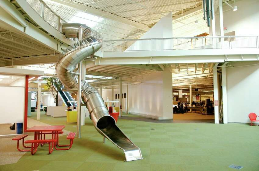 AFTER: Meeting spaces, business sales areas and quirky workplace features now fill the Rackspace headquarters in the former mall.
