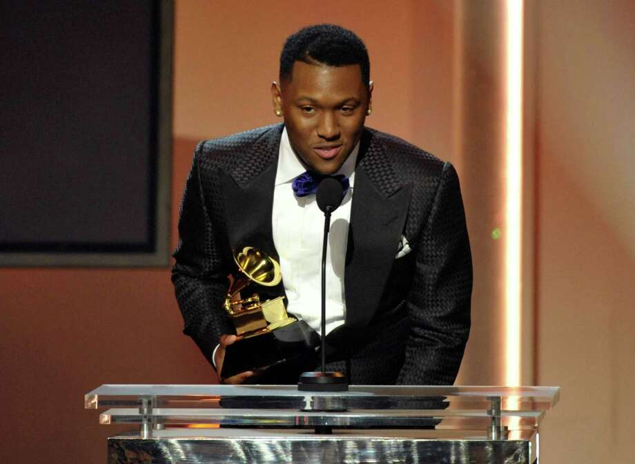 "Recording artist Chauncey Hollis accepts the award for best rap song for ""N****s in Paris"" during the pre-telecast at the 55th annual Grammy Awards on Sunday, Feb. 10, 2013, in Los Angeles. (Photo by John Shearer/Invision/AP) Photo: John Shearer / Invision"
