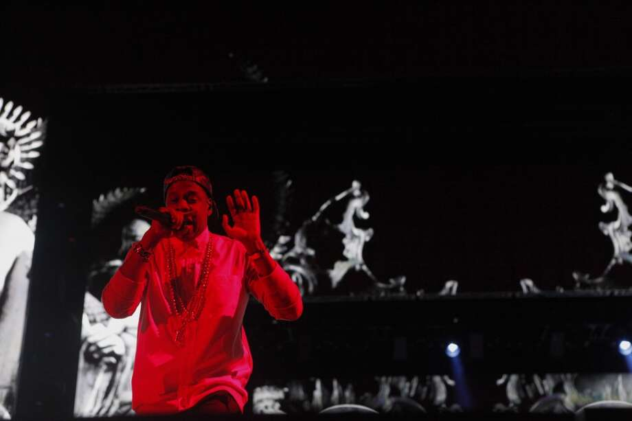 Justin Timberlake and JayZ perform their hit duet Holy Grail during their concert at Candlestick Park in San Francisco, Calif. on July 26, 2013. Photo: Katie Meek, The Chronicle