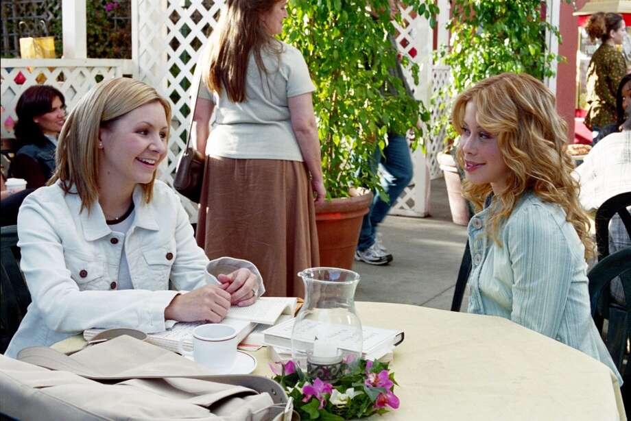 Beverley Mitchell as Lucy Camden, Tara Lipinski as Christine in 2003. Photo: Paul McCallum, The WB