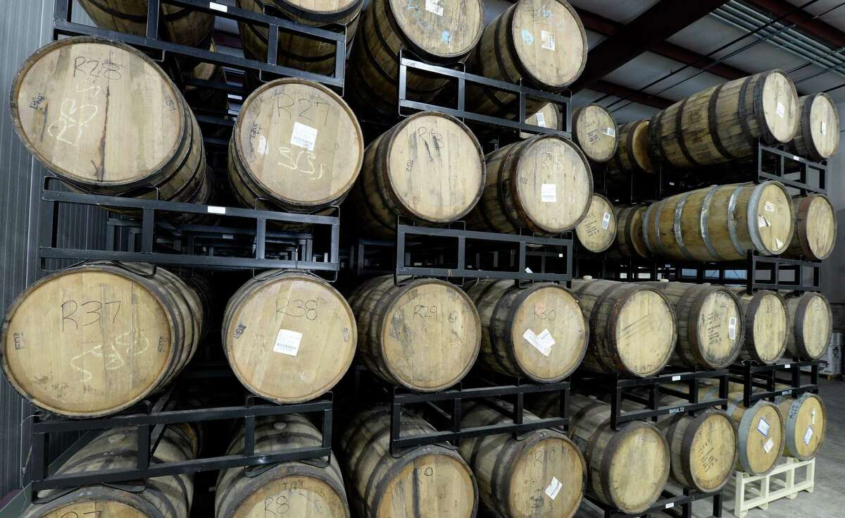 Beer is aged in casks at Shmaltz Brewing July, 24, 2013, in Clifton Park, N.Y. (Skip Dickstein/Times Union)