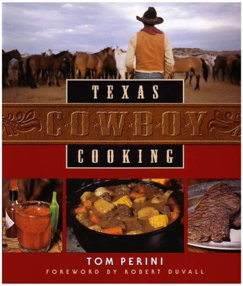 Texas Cowboy Cooking, by Tom Perini, probably the best-selling (and best) Texas cookbook ever published. Photo: Glenn Dromgoole