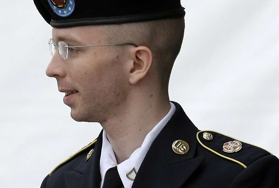 Army Pfc. Bradley Manning faces more than 100 years in prison for leaking documents. Photo: Patrick Semansky, Associated Press
