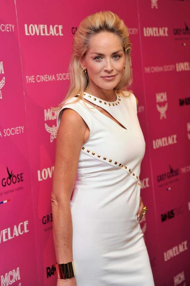 "Actress Sharon Stone attends The Cinema Society and MCM with Grey Goose screening of Radius TWC's ""Lovelace"" at MoMA on July 30, 2013 in New York City.  (Photo by Stephen Lovekin/Getty Images) Photo: Stephen Lovekin, Getty Images"