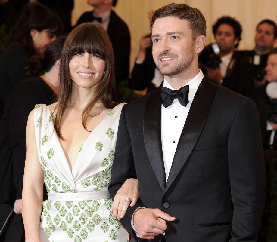Jessica Biel and Justin Timberlake in 2012. Photo: Evan Agostini, Associated Press