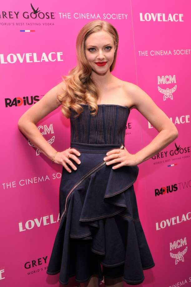 "Actress Amanda Seyfried attends The Cinema Society and MCM with Grey Goose screening of Radius TWC's ""Lovelace"" at MoMA on July 30, 2013 in New York City.  (Photo by Stephen Lovekin/Getty Images) Photo: Stephen Lovekin, Getty Images"