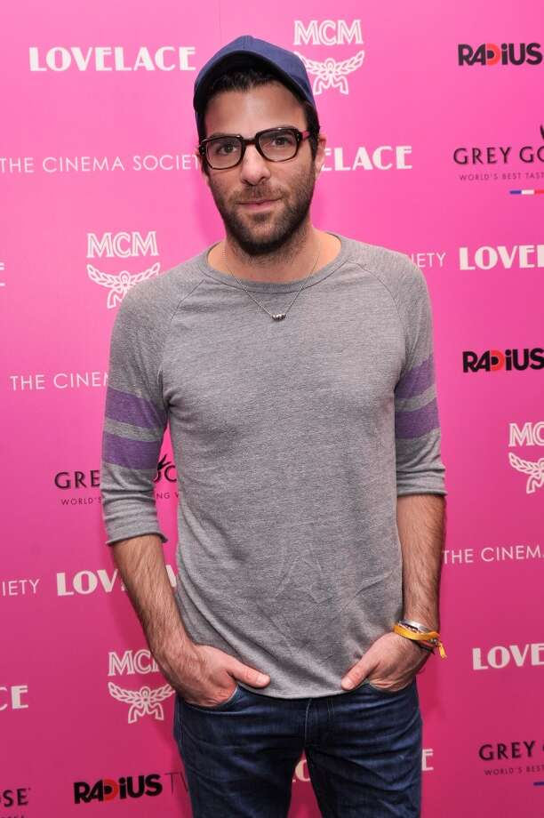 "Actor Zachary Quinto attends The Cinema Society and MCM with Grey Goose screening of Radius TWC's ""Lovelace"" at MoMA on July 30, 2013 in New York City.  (Photo by Stephen Lovekin/Getty Images) Photo: Stephen Lovekin, Getty Images"