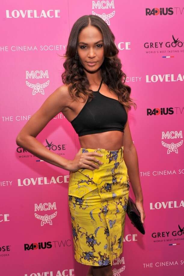 "Model Joan Smalls attends The Cinema Society and MCM with Grey Goose screening of Radius TWC's ""Lovelace"" at MoMA on July 30, 2013 in New York City.  (Photo by Stephen Lovekin/Getty Images) Photo: Stephen Lovekin, Getty Images"