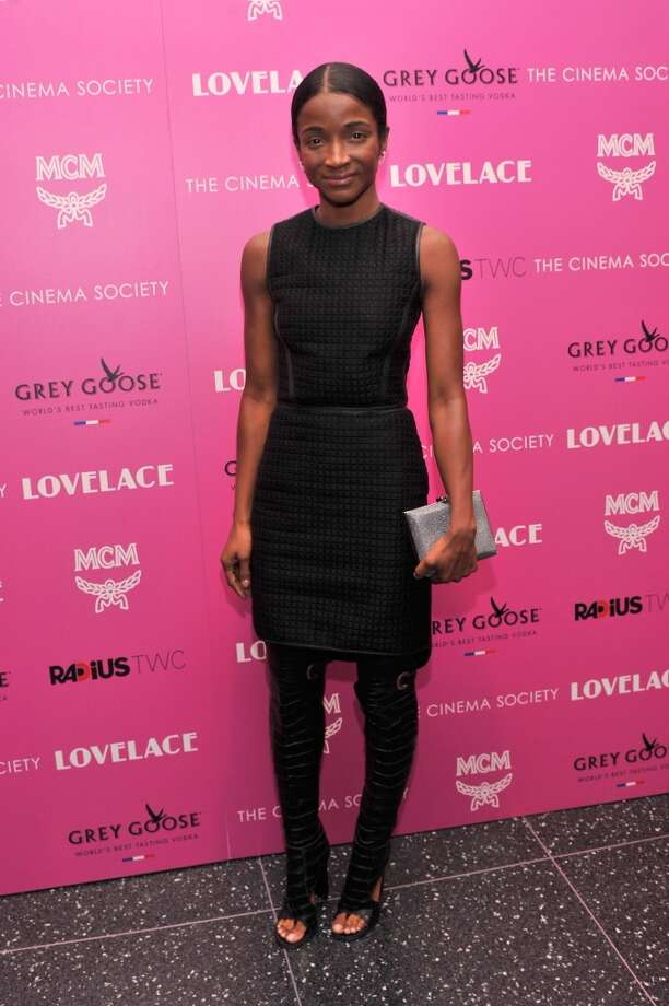"Genevieve Jones attends The Cinema Society and MCM with Grey Goose screening of Radius TWC's ""Lovelace"" at MoMA on July 30, 2013 in New York City.  (Photo by Stephen Lovekin/Getty Images) Photo: Stephen Lovekin, Getty Images"