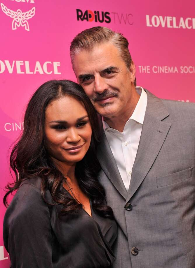 "Tara Wilson (L) and actor Chris Noth attend The Cinema Society and MCM with Grey Goose screening of Radius TWC's ""Lovelace"" at MoMA on July 30, 2013 in New York City.  (Photo by Stephen Lovekin/Getty Images) Photo: Stephen Lovekin, Getty Images"