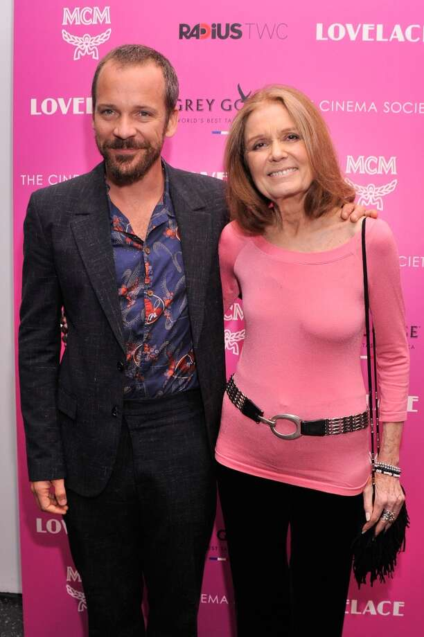 "Actor Peter Sarsgaard (L) and Gloria Steinem attend The Cinema Society and MCM with Grey Goose screening of Radius TWC's ""Lovelace"" at MoMA on July 30, 2013 in New York City.  (Photo by Stephen Lovekin/Getty Images) Photo: Stephen Lovekin, Getty Images"