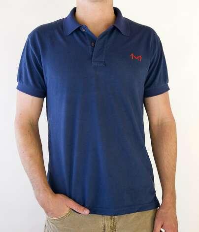 A navy polo shirt from new company Marine Layer. Photo: Marine Layer