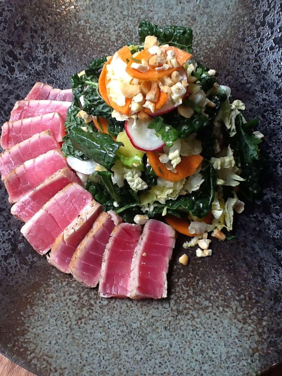 Seared tuna and kale salad from Fusion Taco