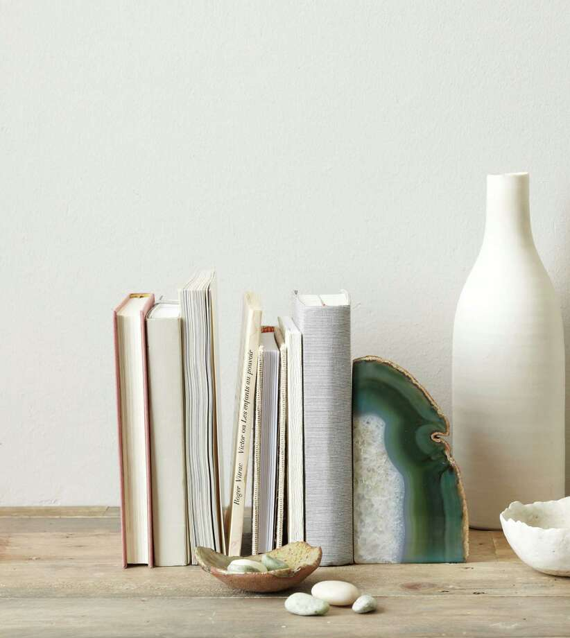 Agate bookends, $14 each, at West Elm