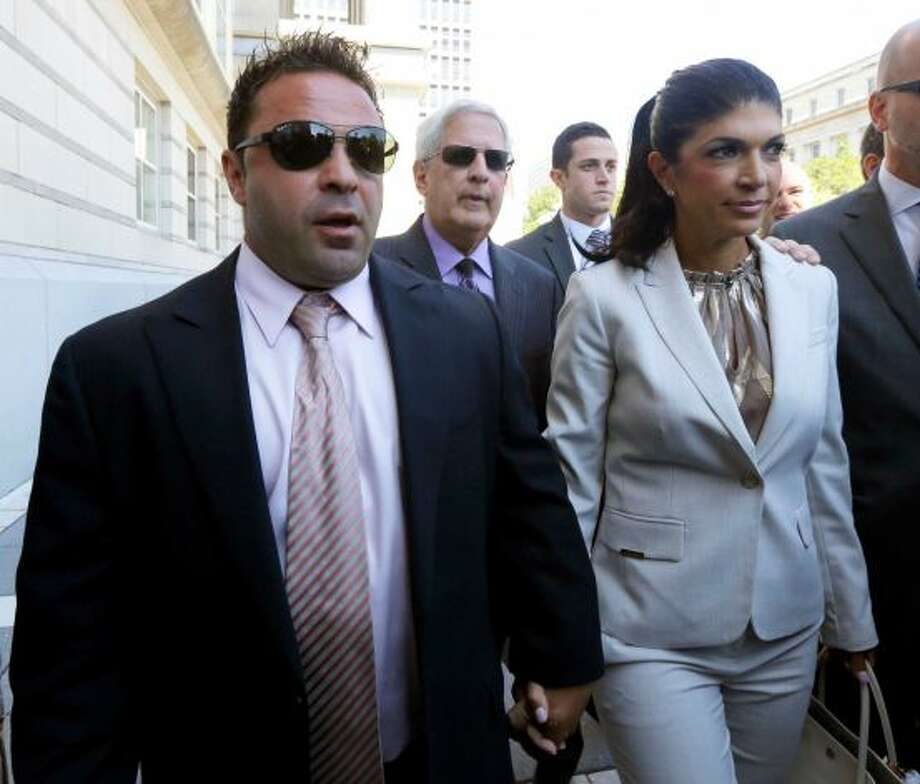"""Real Housewives of New Jersey"" stars, Teresa Giudice and her husband, Giuseppe ""Joe"" Giudice, were charged with conspiracy to commit mail and wire fraud, bank fraud, making false statements on loan applications and bankruptcy fraud in a 39-count indictment  by a federal grand jury. The indictment also charges Giuseppe Giudice with failure to file tax returns for tax years 2004 through 2008, during which time he allegedly earned nearly $1 million. The maximum penalties for the couple include 30 years in prison and $1 million fine. Photo: Photo: Julio Cortez"