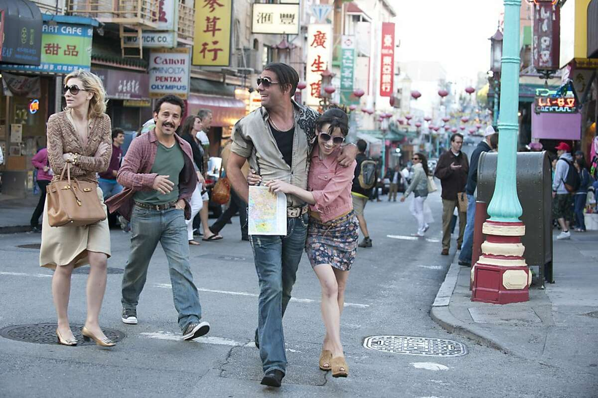 BLUE JASMINE: Left to right: Cate Blanchett as Jasmine, Max Casella as Eddie, Bobby Cannavale as Chili and Sally Hawkins as Ginger