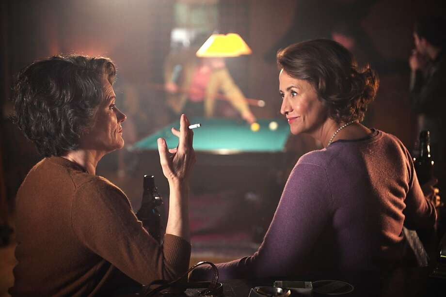 """Barbara Sukowa (left) as Hannah Arendt and Janet McTeer as Mary McCarthy in """"Hannah Arendt,"""" by German director Margarethe von Trotta. Photo: VŽronique Kolber, Zeitgeist Films"""