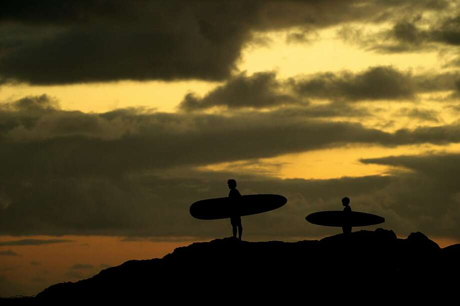 "Sunset and surfboards in Australia circa the 1970s in Ben Nott and Morgan O'Neill's ""Drift."" Photo: Wrekin Hill Entertainment"
