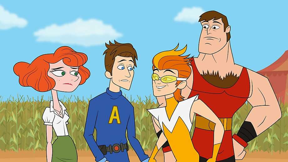 Characters from Hulu's 'The Awesomes' include Prock, voiced by Seth Meyers, who has just one superpower and a very good reason not to use it. Photo: Associated Press