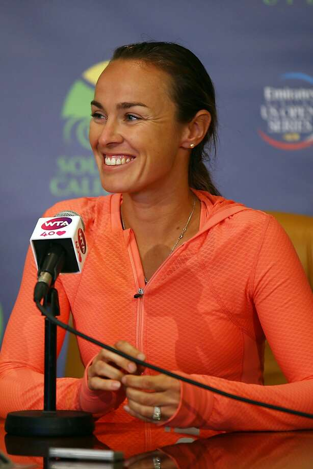 CARLSBAD, CA - JULY 31:  Martina Hingis of Switzerland attends a press conference at the Southern California Open on Day Three at La Costa Resort & Spa on July 31, 2013 in Carlsbad, California.  (Photo by Joe Scarnici/Getty Images) Photo: Joe Scarnici, Getty Images