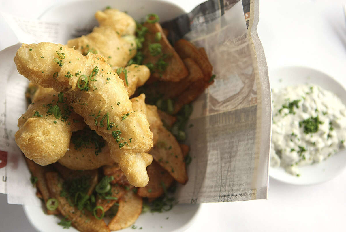 Fish 'n' Chips are featured at The Sandbar.