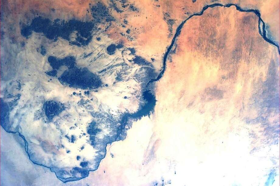 The Nile and Sudan, 2013.  Photo: Karen Nyberg, International Space Station