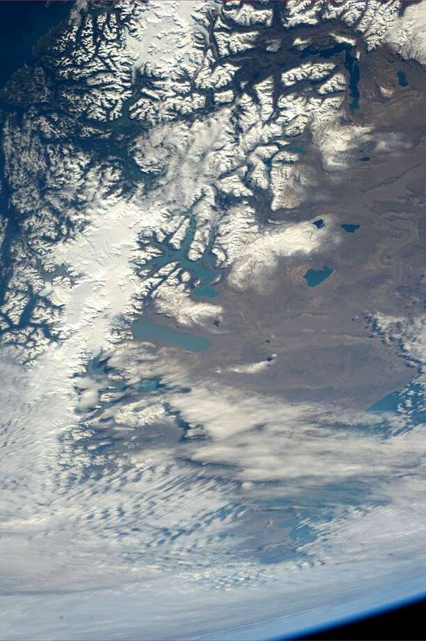 Southern Chile and Argentina. Taken July 28, 2013. KN from space. Photo: Karen Nyberg, International Space Station
