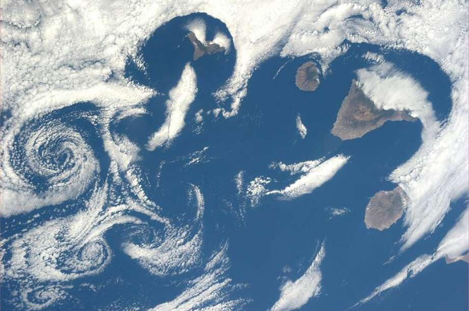 The Canary Islands. And some really cool cloud patterns. Taken July 6, 2013. KN from space. Photo: Karen Nyberg, International Space Station