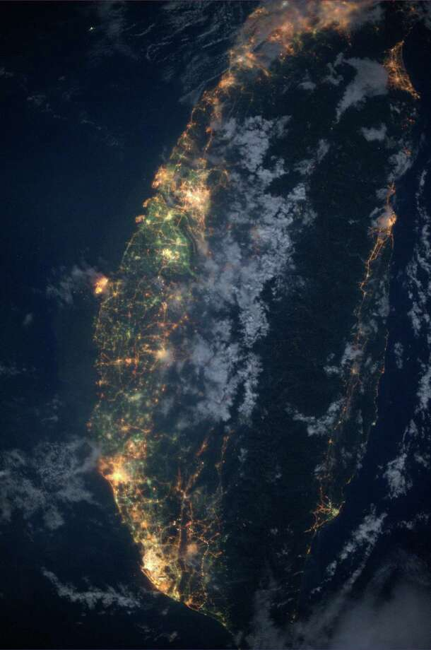 Taiwan. Taken July 22, 2013. KN fro space. Photo: Karen Nyberg, International Space Station