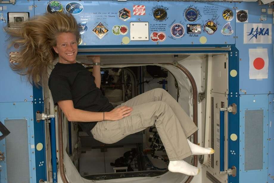 "Karen Nyberg on May 31, 2013, at work in the International Space Station. ""This is my first pin (on Pinterest) from space!"" she wrote. In addition to Earth photos, she documents an astronaut's life, from washing long hair in zero-g conditions to making desserts with space shuttle staples.  Photo: Karen Nyberg, International Space Station"