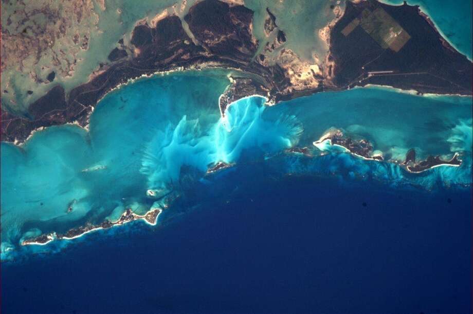 """It's hard to believe the colours of the Bahamas from space."" - Chris Hadfield, 2013.  Photo: Chris Hadfield, Internationship Space Station"