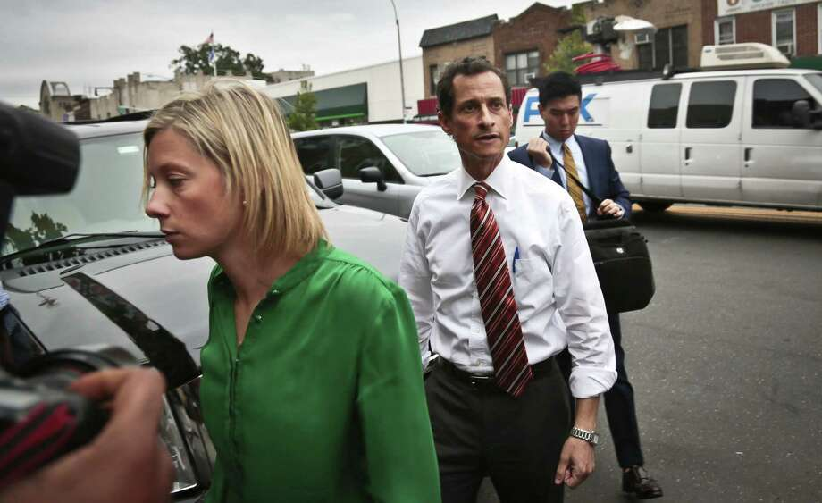 New York mayoral candidate Anthony Weiner's chief spokeswoman, Barbara Morgan (left) went on an expletive-laced tirade Tuesday about former campaign intern Olivia Nuzzi. Photo: Bebeto Matthews / Associated Press