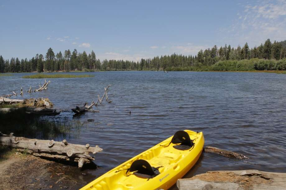 You can rent a kayak at Manzanita Lake for $15, a tandem for $20 Photo: Tom Stienstra