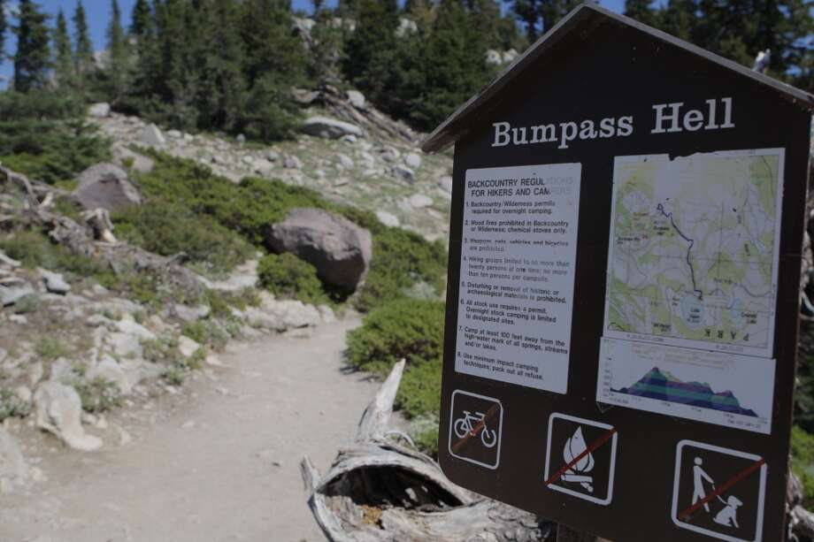 Trailhead for Bumpass Hell, by far the most popular trail at Lassen Photo: Tom Stienstra
