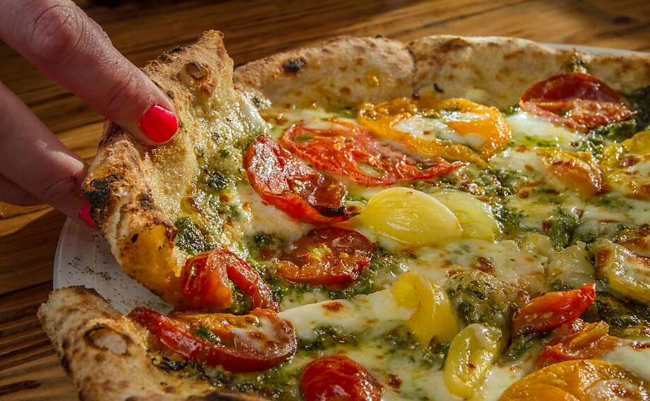 The Heirloom Tomato Pizza at Forge 66 in Oakland, Calif., is seen on Wednesday, July 25th, 2013. Photo: John Storey, Special To The Chronicle