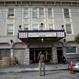 Residents at the Mission Hotel often hang out in front during the day. Ten years ago San Francisco officials decided that supportive housing for the homeless was the only solution. Although many formerly homeless are now housed, few have had the training, schooling or support to actually get off the streets during the day.