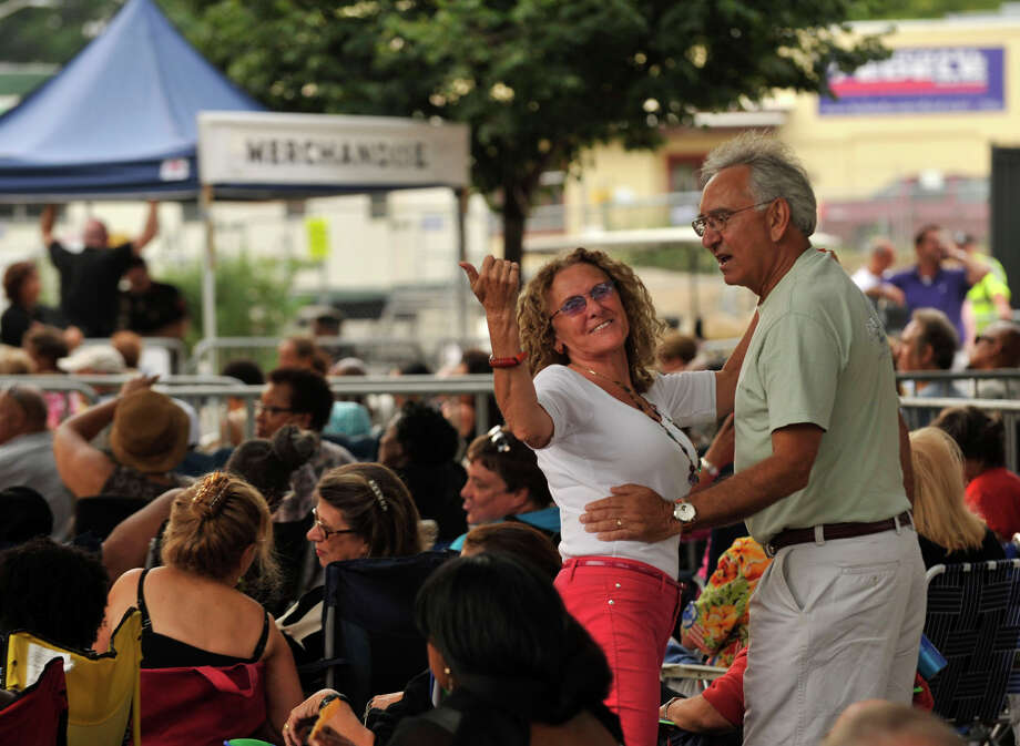 Scenes from Jazz Up July at Columbus Park in Stamford on Wednesday, July 31, 2013. Photo: Jason Rearick / Stamford Advocate