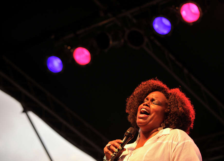 Dianne Reeves performs on stage during Jazz Up July at Columbus Park in Stamford on Wednesday, July 31, 2013. Photo: Jason Rearick / Stamford Advocate