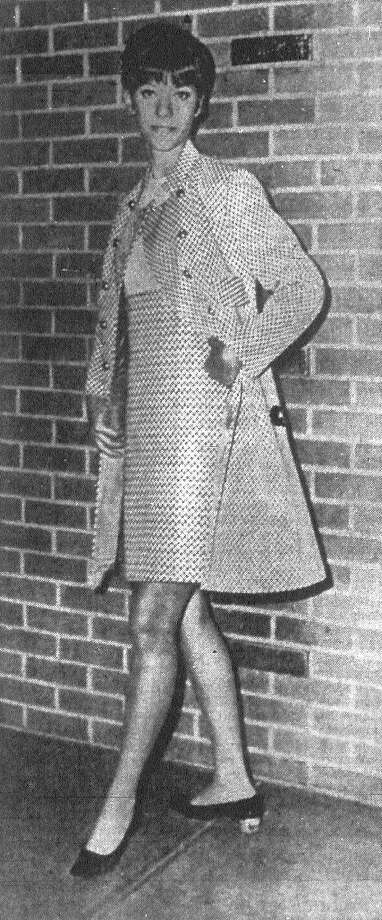 For smart campus wear this fall and winter, wardrobes for 1968-69 should include suits. Pert Patty Fisher, 17, of Providence High School, models this attractive two-piecer from Lenny's at North Star Mall. Published in the San Antonio News Aug. 6, 1968. Photo: File Photo