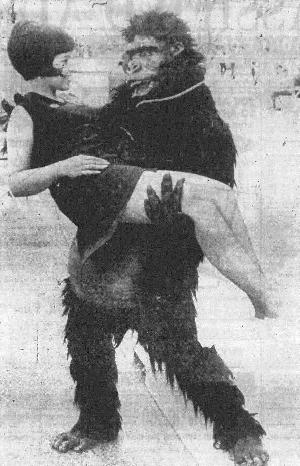 The HemisFair gorilla, who loves to chase children and cuddle pretty girls, was in rare form when he discovered Glenda Brown, one of the new hostesses at the Arkansas Pavilion. Published in the San Antonio Express Aug. 31, 1968. Photo: File Photo