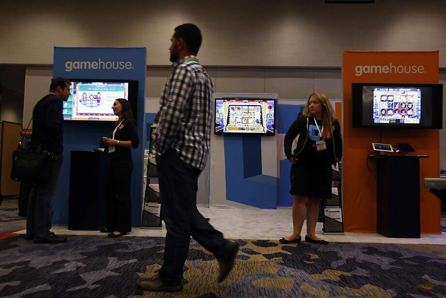"RealNetworks hopes for a winning hand in ""GameHouse,"" as seen at this week's Casual Connect conference. Photo: Rohan Smith, The Chronicle"
