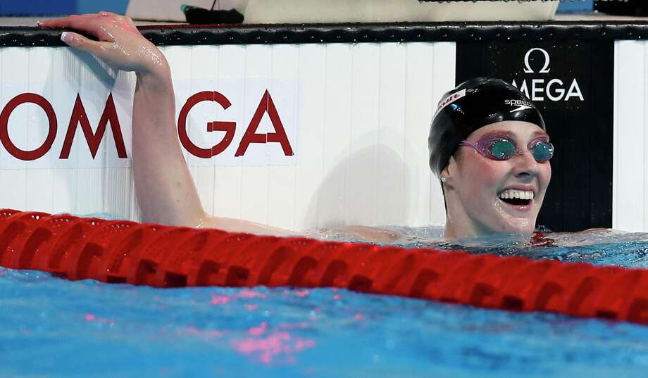 United States's Missy Franklin smiles after winning the gold medal in the Women's 200m freestyle final at the FINA Swimming World Championships in Barcelona, Spain, Wednesday, July 31, 2013. (AP Photo/Michael Sohn) ORG XMIT: WSC219 Photo: Michael Sohn / AP