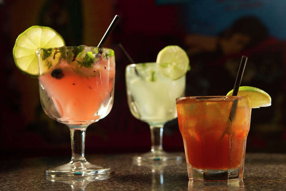 The blueberry, jalapeño, cilantro margarita, left, is shown at El Gran Malo. Photo: Brett Coomer, Houston Chronicle / Houston Chronicle