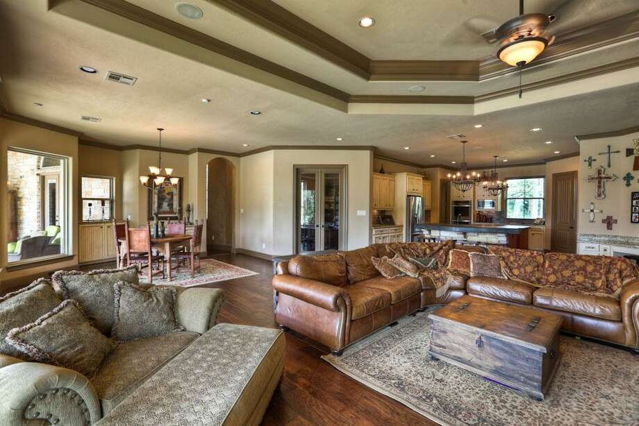This floor plan is delightful in design. The room flows from the entry into the breakfast area/living area, thru the double doors is the study.See the listing here