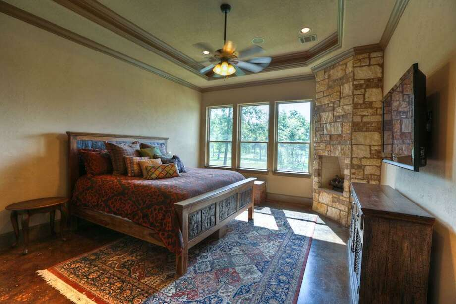 The master retreat has awesome views of outdoors.