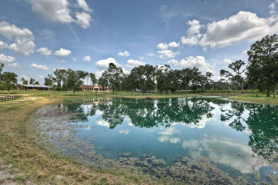 The home also has a fishing pond on the property.